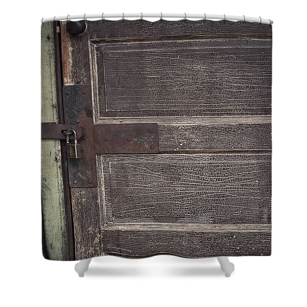 Leather Door Shower Curtain