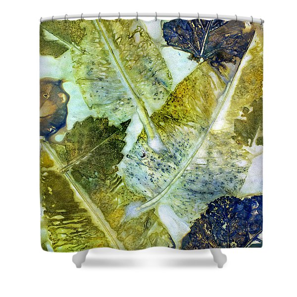 Leaves Of Nature Eco Dyed Print Shower Curtain