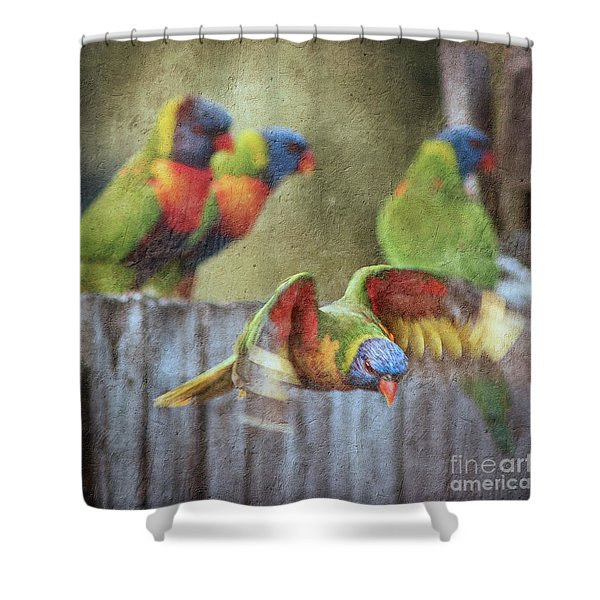 Leaving The Party Shower Curtain