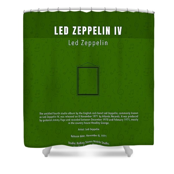 Led Zeppelin Iv Led Zeppelin Greatest Albums Of All Time Minimalist Series Shower Curtain