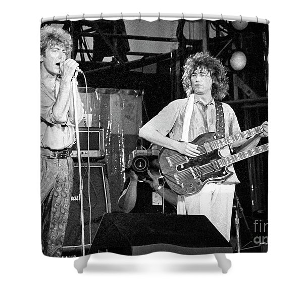 Led Zeppelin Jimmy Page Robert Plant  Shower Curtain