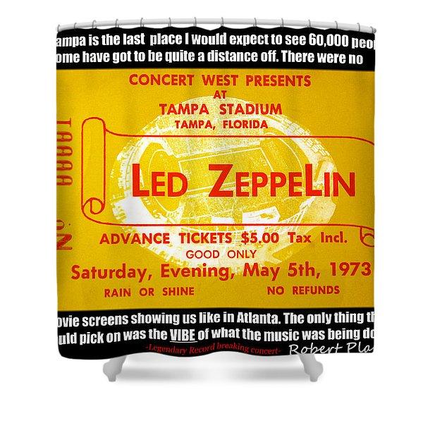 Led Zeppelin Tampa Stadium 1973 Concert Shower Curtain