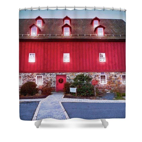 Lee's Merchant Mill Christmas Shower Curtain