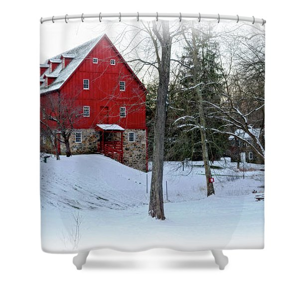 Lee's Merchant Mill Pano Shower Curtain