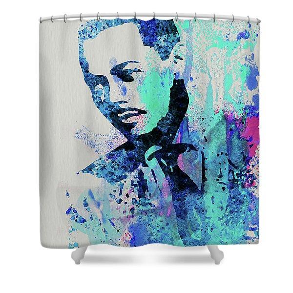 Legendary Billy Eckstine Watercolor Shower Curtain