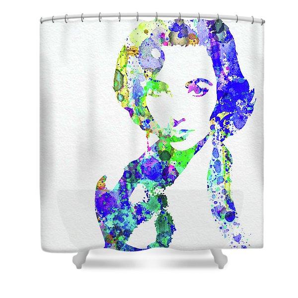 Legendary Elizabeth Taylor Watercolor Shower Curtain