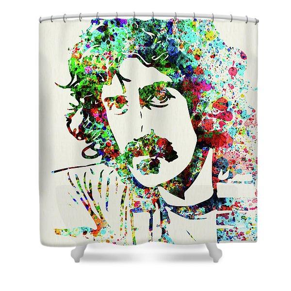 Legendary Frank Zappa Watercolor Shower Curtain
