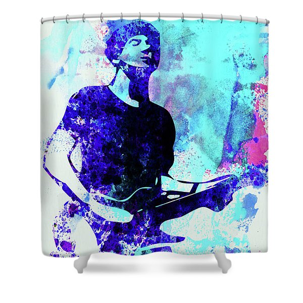 Legendary Graham Coxon Watercolor Shower Curtain