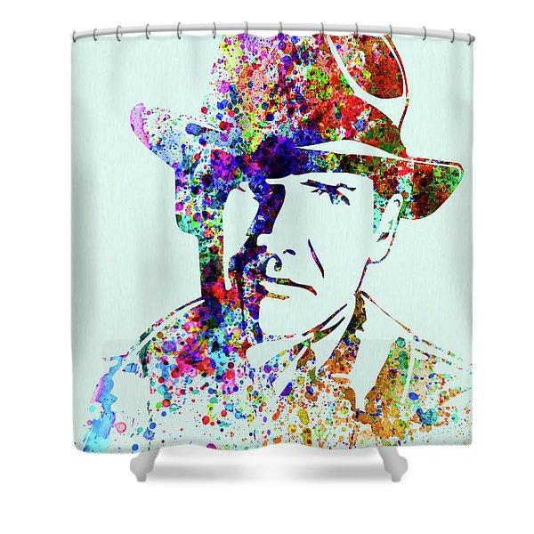Legendary Indiana Jones Watercolor Shower Curtain