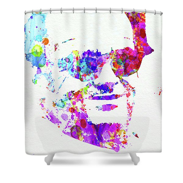 Legendary Jack Watercolor Shower Curtain