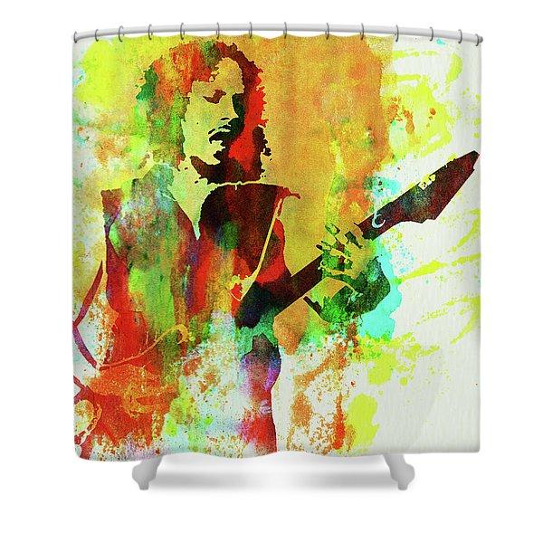 Legendary Kirk Hammett Watercolor Shower Curtain
