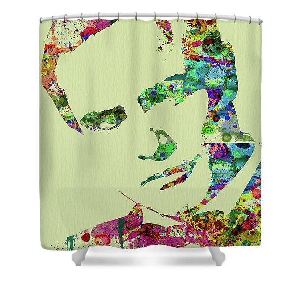 Legendary Marlon Brando Watercolor Shower Curtain