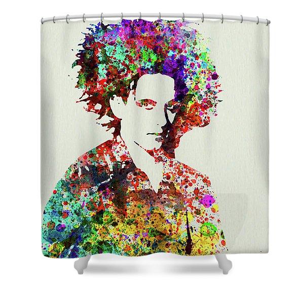 Legendary Robert Smith Watercolor Shower Curtain