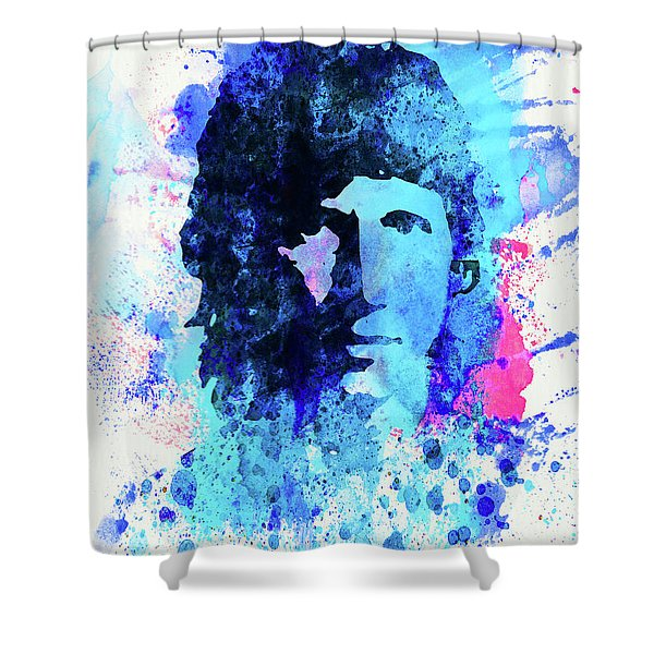 Legendary Roger Waters Watercolor Shower Curtain