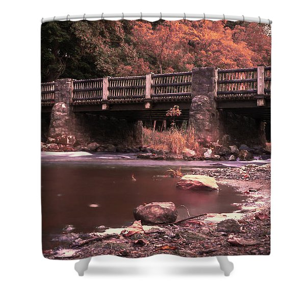 Lehigh Parkway Robin Hood Bridge - Impressionism Shower Curtain
