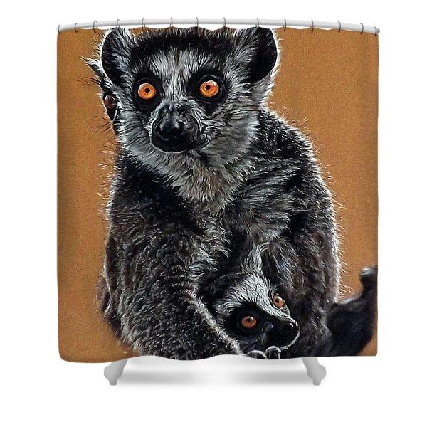 Lemurs Shower Curtain