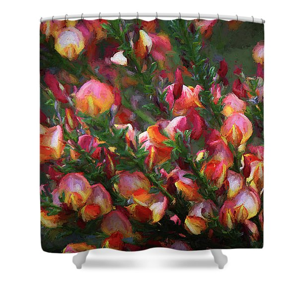 Lena Scotch Broom - Painterly Shower Curtain