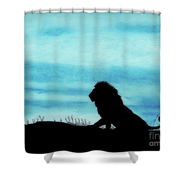 Leo At Sunset Shower Curtain