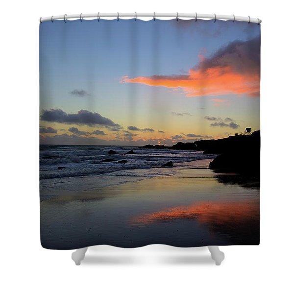 Leo Carrillo Sunset II Shower Curtain