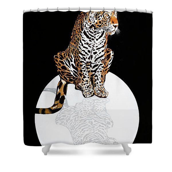 Leopardo Da Vinci Shower Curtain