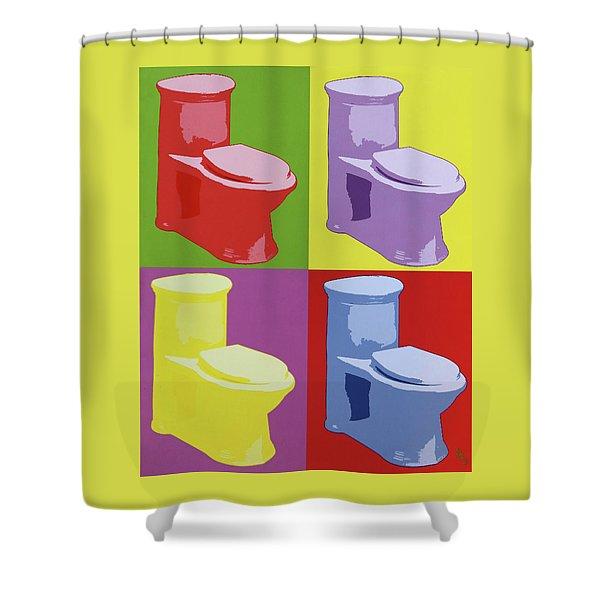 Les Toilettes  Shower Curtain