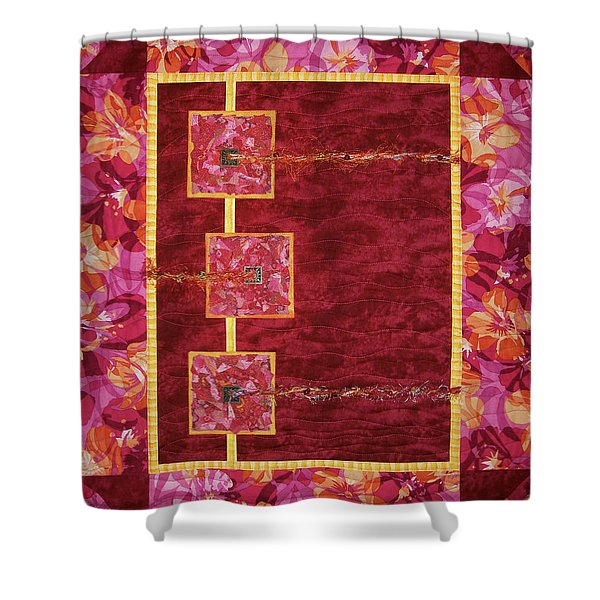 Let A Hundred Flowers Bloom Shower Curtain