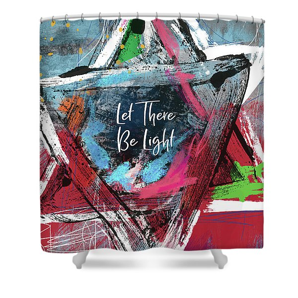 Let There Be Light Expressionist Star- Art By Linda Woods Shower Curtain