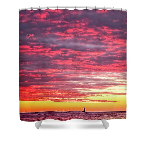 Shower Curtain featuring the photograph Let There Be Light by Jeff Sinon