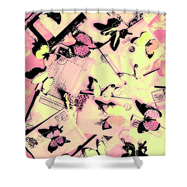 Letter Nests Shower Curtain