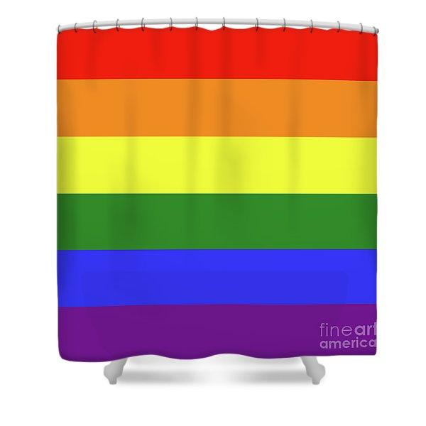 Lgbt 6 Color Rainbow Flag Shower Curtain