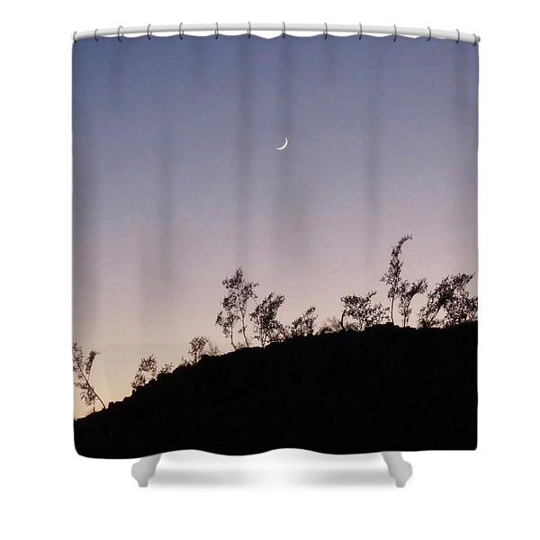 Libra Twilight Crescent Shower Curtain
