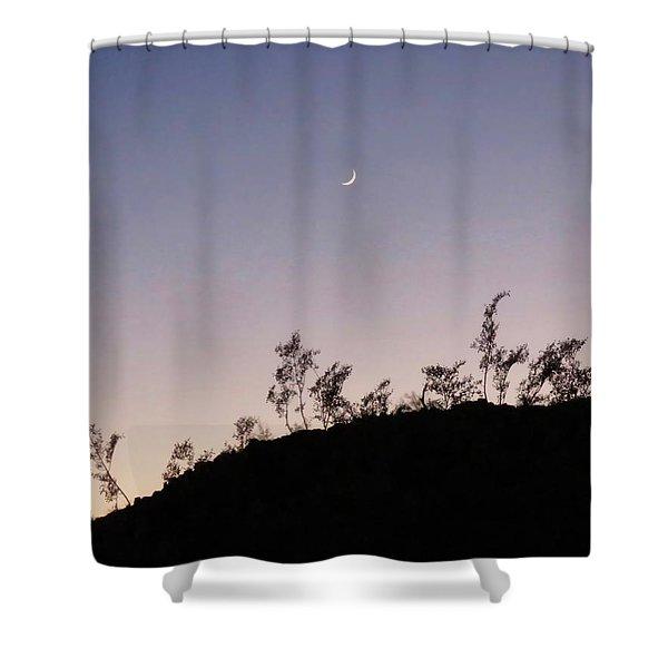 Libra Twilight Crescent Shower Curtain