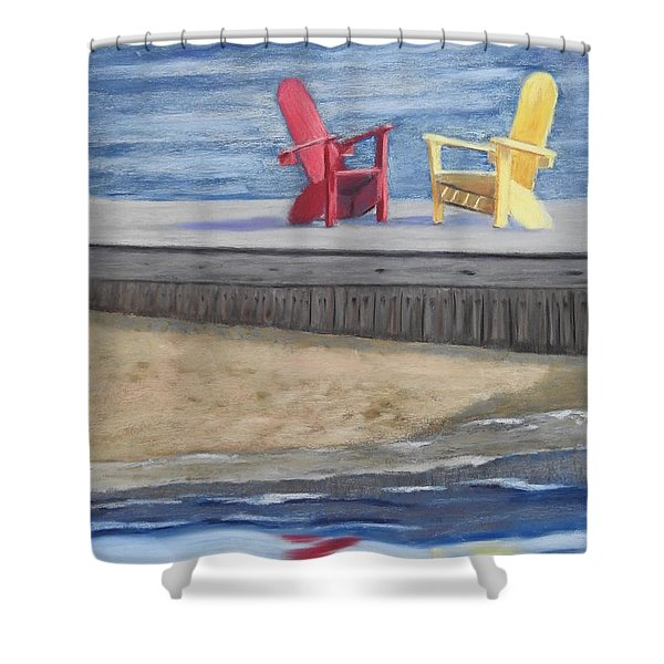 Life Is Good Shower Curtain