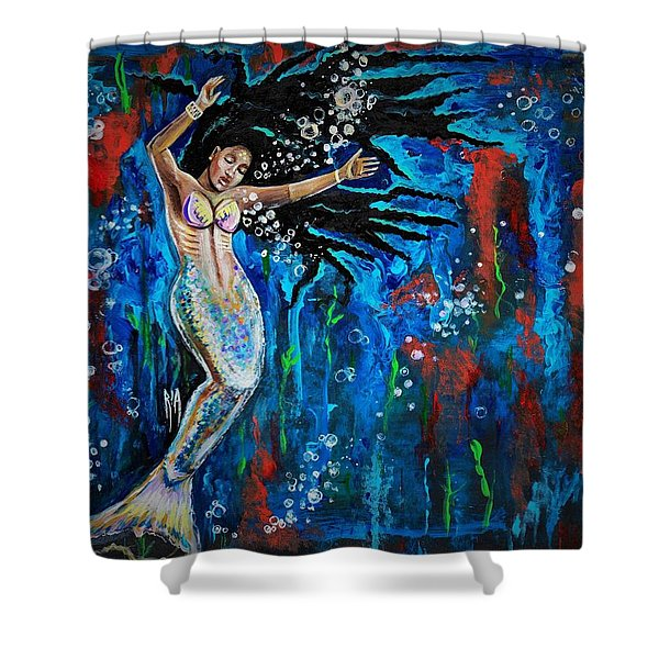 Lifes Strong Currents  Shower Curtain