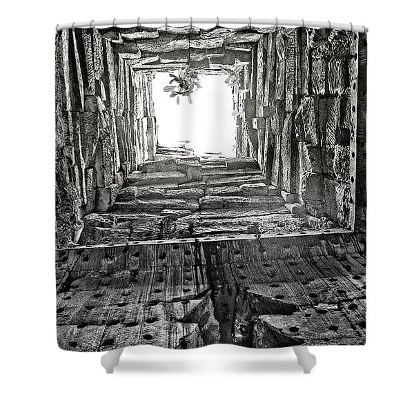Light At The End Shower Curtain