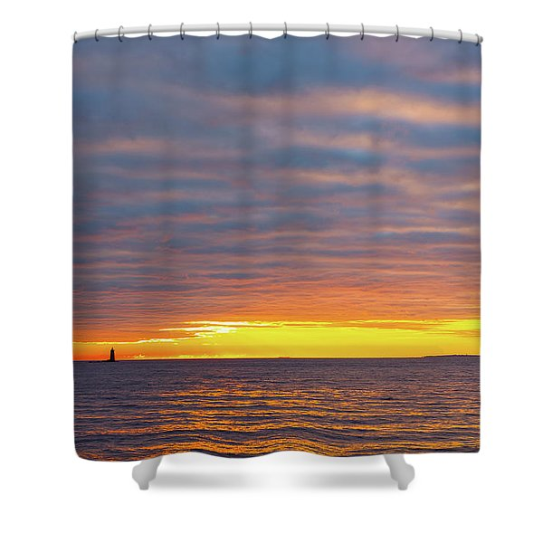 Shower Curtain featuring the photograph Light On The Horizon by Jeff Sinon