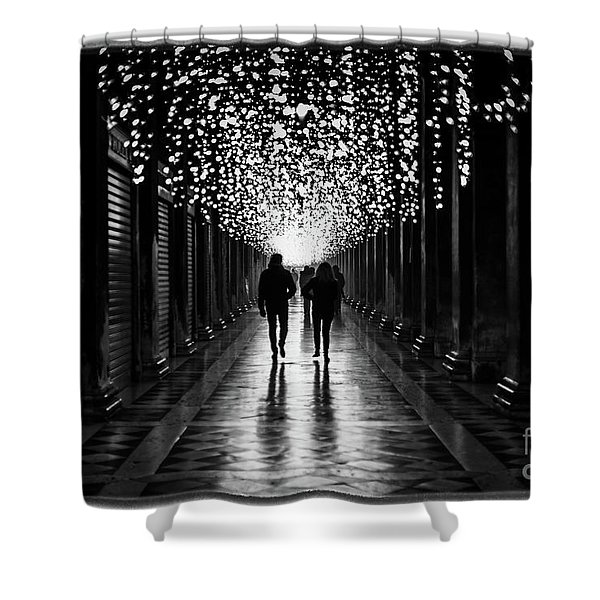 Light, Shadows And Symmetry Shower Curtain