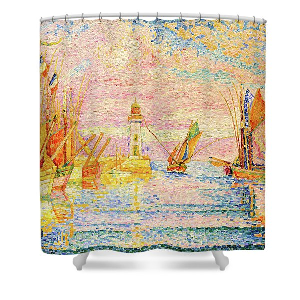 Lighthouse At Groix - Digital Remastered Edition Shower Curtain