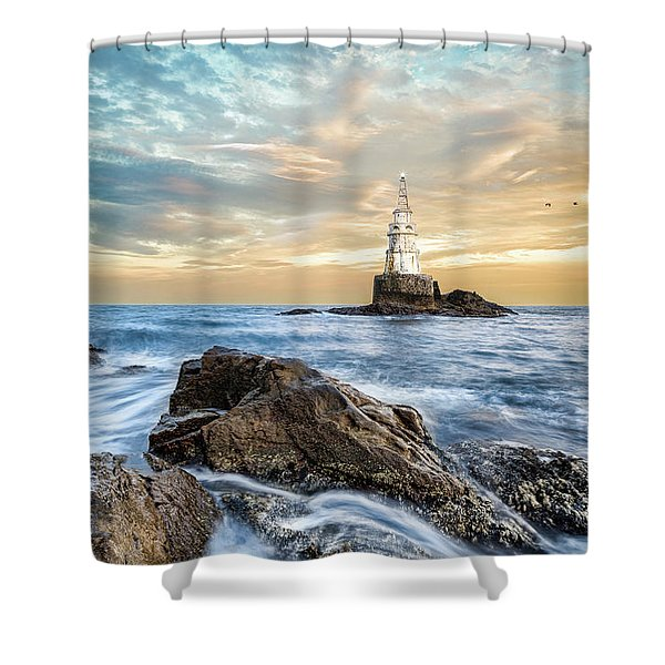 Lighthouse In Ahtopol, Bulgaria Shower Curtain