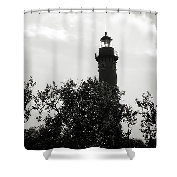 Shower Curtain featuring the photograph Lighthouse by Michelle Wermuth