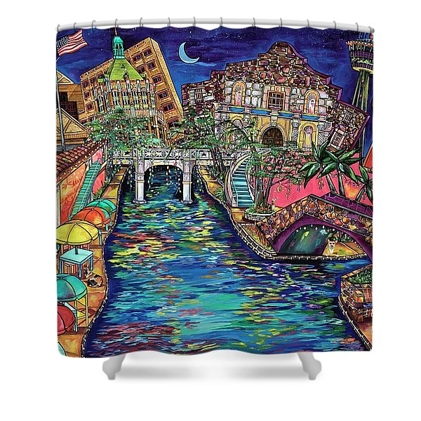 Lights On The Banks Of The River Shower Curtain