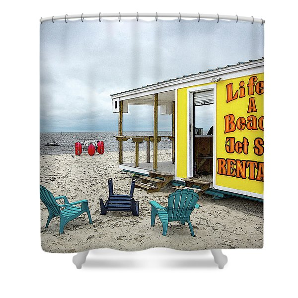 Like's A Beach Shower Curtain