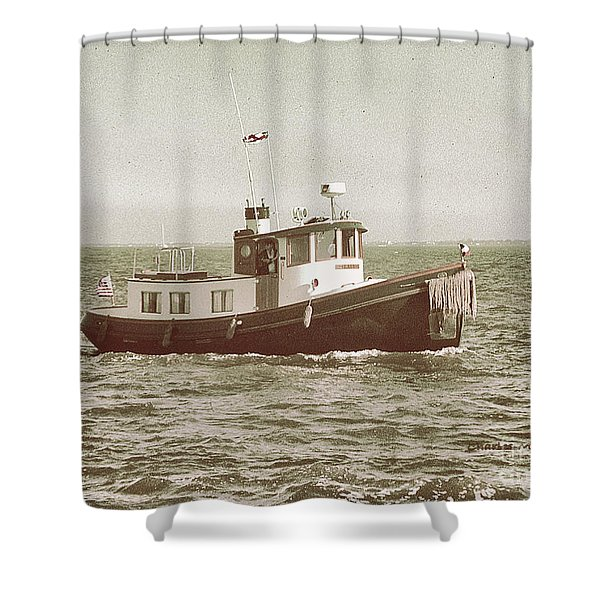 Shower Curtain featuring the photograph Lil Tugboat by Charles McKelroy