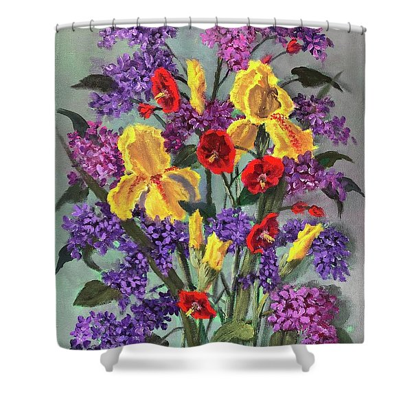 Lilac Days Shower Curtain
