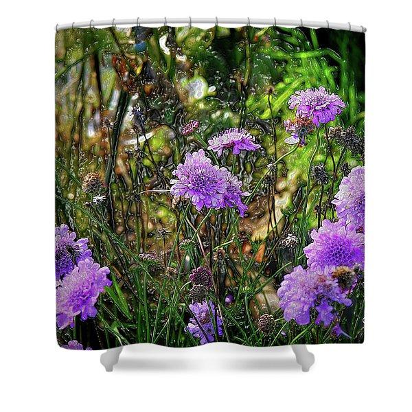 Lilac Jelly Pincushion Shower Curtain