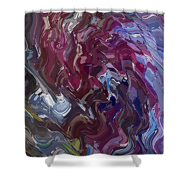 Lilac Oil Shower Curtain