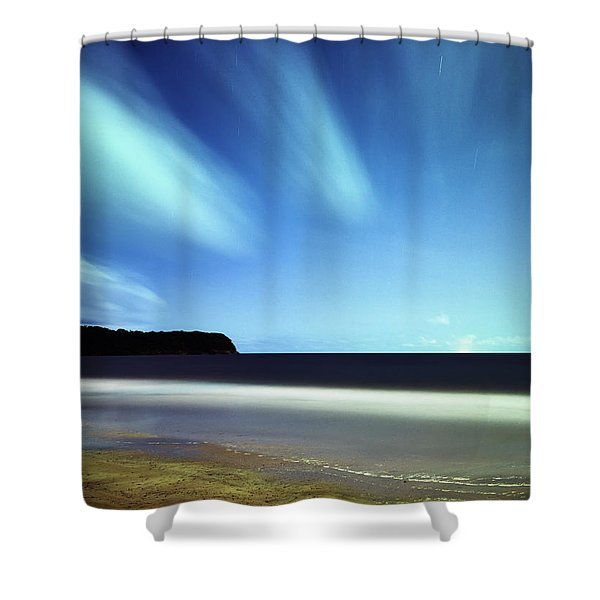 Linear Clouds Over Mayaro Shower Curtain