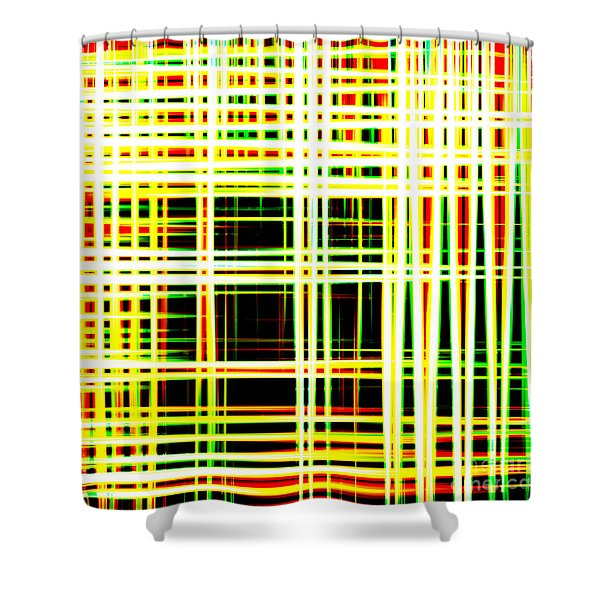 Lines And Squares In Color Waves - Plb418 Shower Curtain