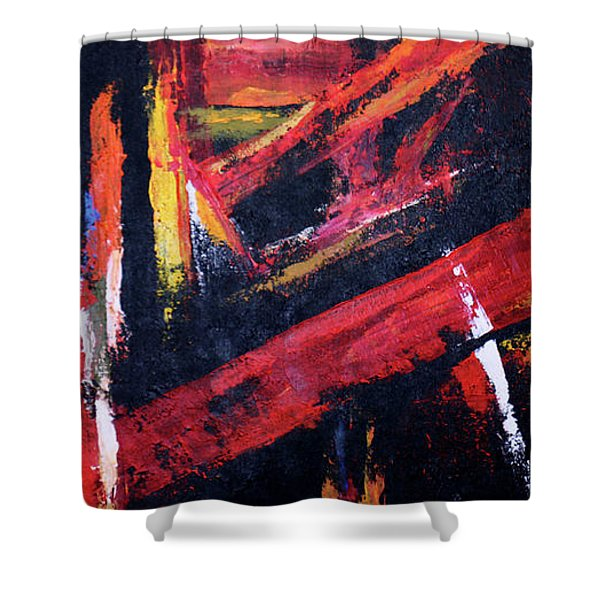 Lines Of Fire Shower Curtain