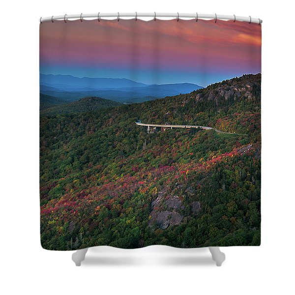 Linn Cove Pink And Blue Shower Curtain